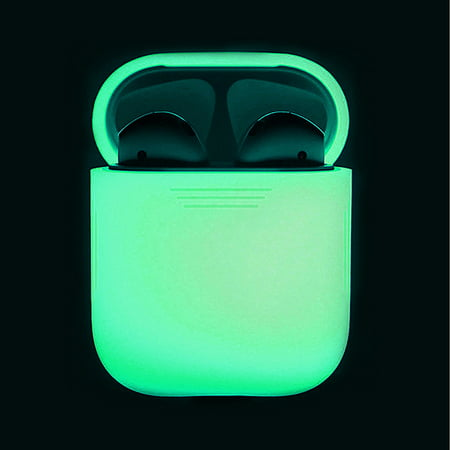 - Glow in the Dark Silicone Shock Proof Protective Case Portable Headset Holder Shell for AirPods