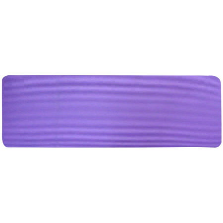 Everyday Essentials All-Purpose 1/2-Inch High Density Foam Exercise Yoga Mat Anti-Tear with Carrying Strap, Purple