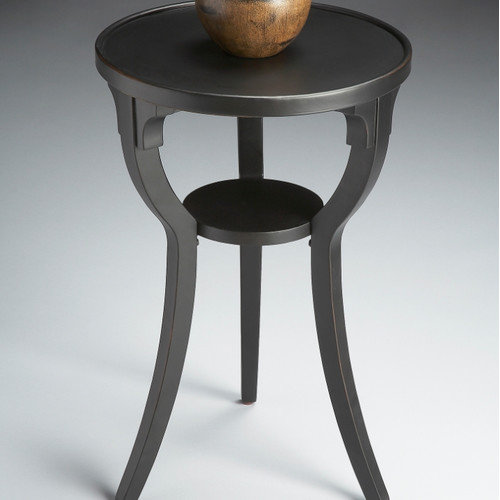Butler Round Accent Table - Black Licorice