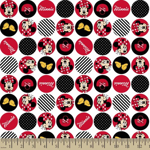 Disney Minnie Dot Icons Fabric by the Yard