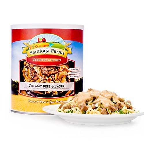 Saratoga Farms Creamy Beef and Pasta (#10 Can, Main Entree) by