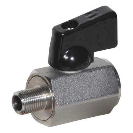 Value Brand 1-Piece Mini Ball Valve, Stainless Steel, SSMM-38NL