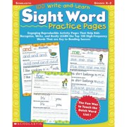 Scholastic 100 Write And Learn Sight Word Record Book