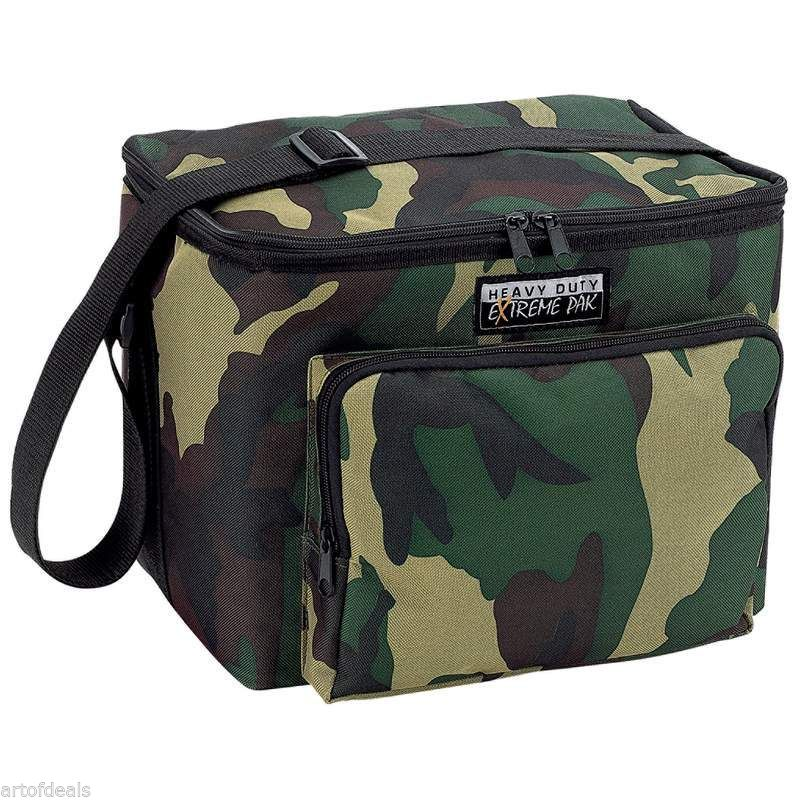 Lunch Bag Cooler Insulated Ice Chest Soda Beer Camouflage Tote Bag Water Resist