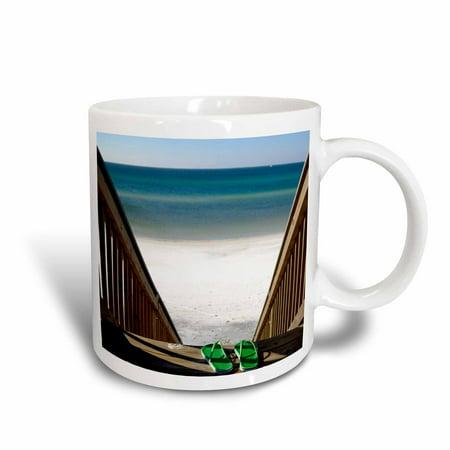 3dRose Beach Sandals, Fort Walton Beach, Florida - US01 FVI0006 - Franklin Viola, Ceramic Mug, 11-ounce