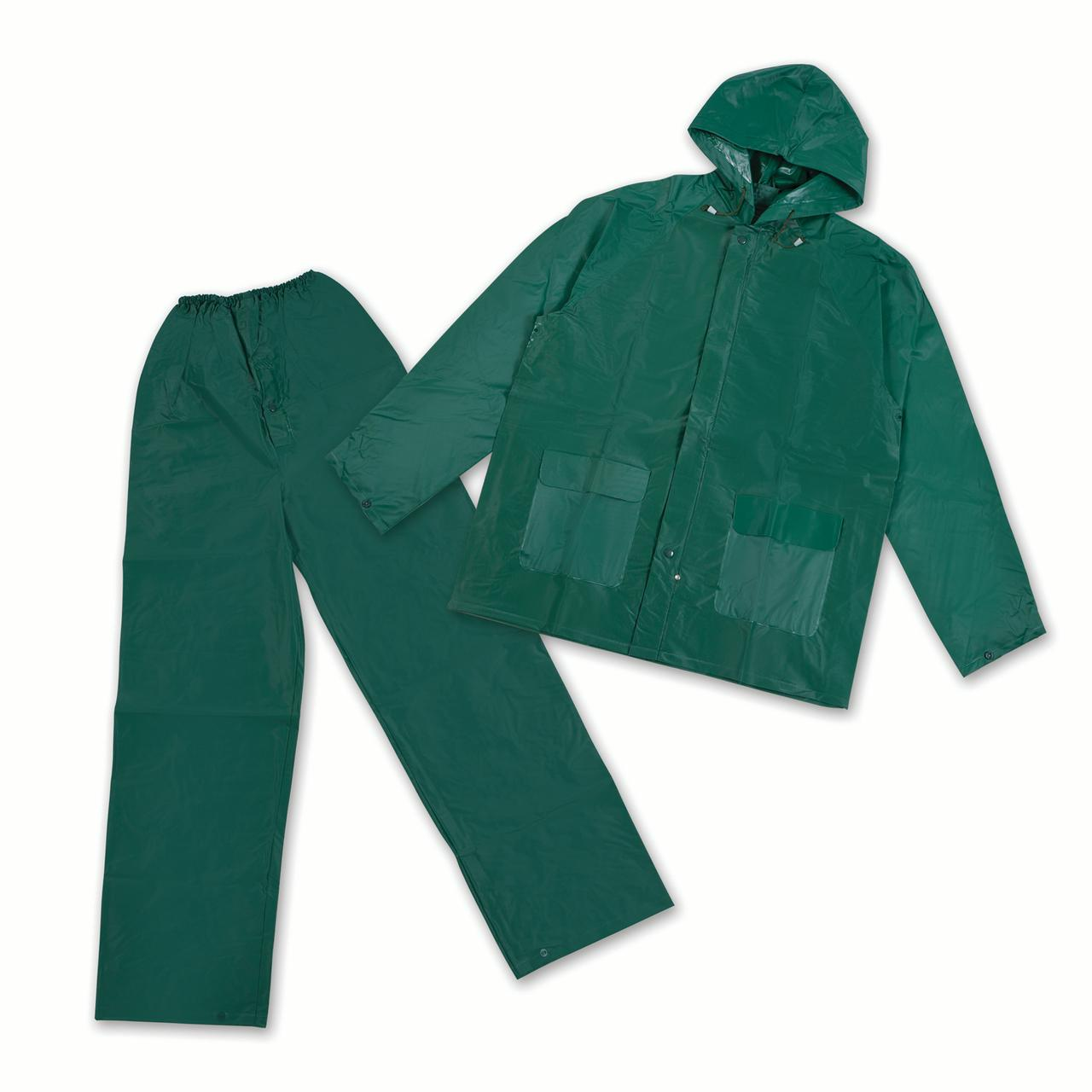 Stansport PVC Rainsuit PVC Back Green 2XL by Stansport