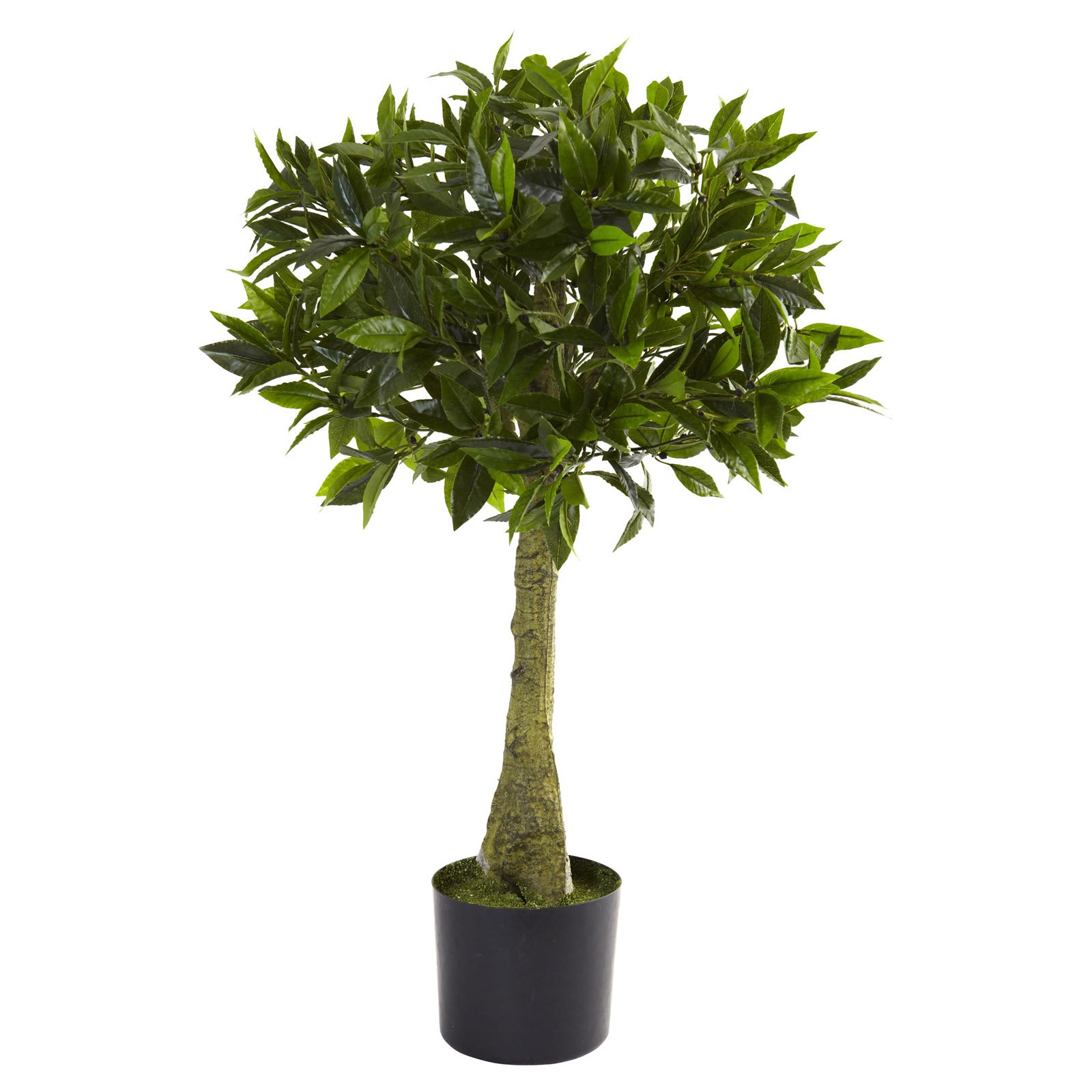 Nearly Natural 3' Bay Leaf Topiary, UV Resistant, Indoor and Outdoor