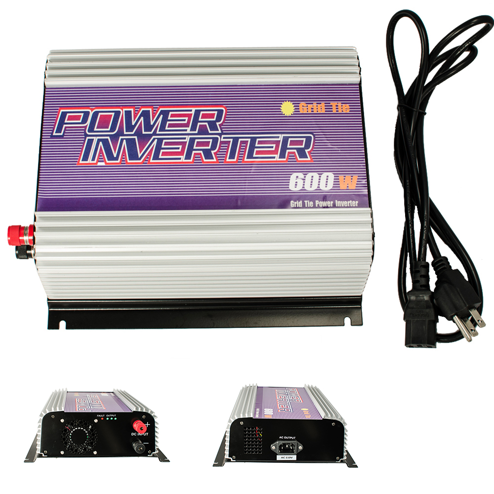 Click here to buy iMeshbean 600W 22-60v DC to 90-130v AC Small Grid Tie Power Inverter Converter for Solar Panel System Pure Sine Wave USA.