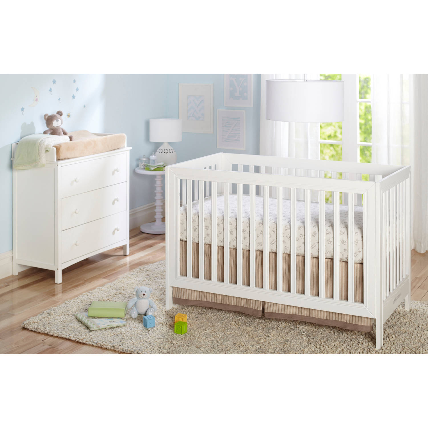 sorelle simple 3drawer dresser and changing table choose your finish walmartcom - Sorelle Cribs