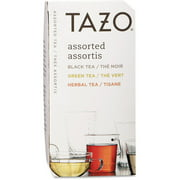 Tazo Assorted Black, Green, and Herbal Tea Bags, 24 count