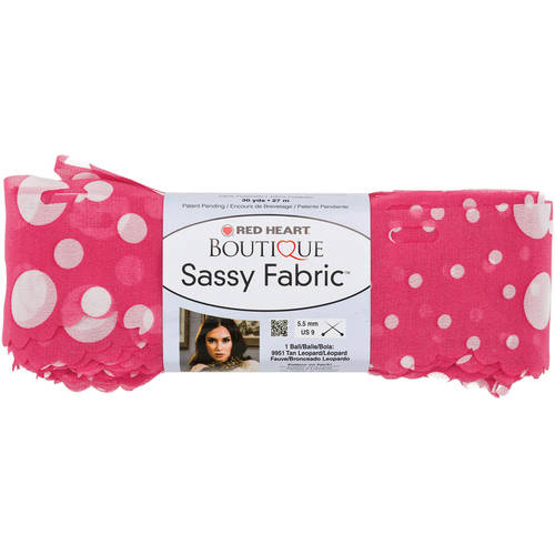 Red Heart Boutique Sassy Fabric Yarn, Available in Multiple Colors