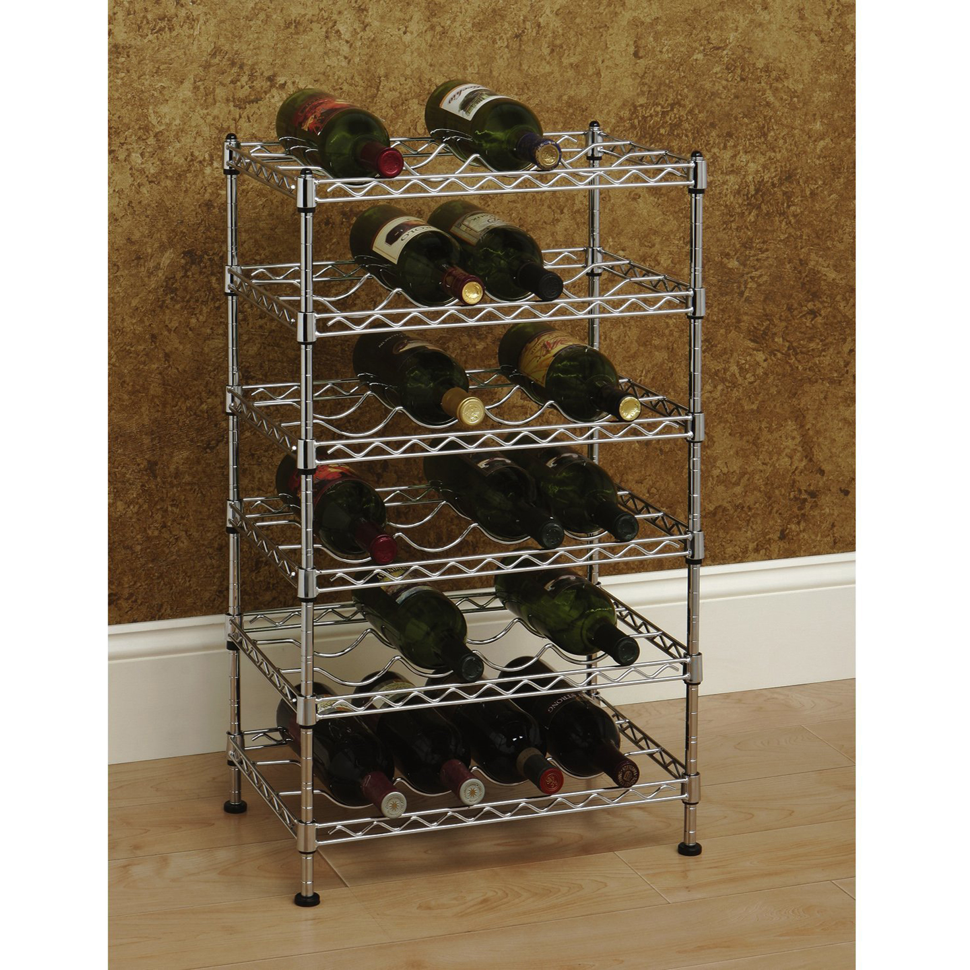 seville classics 12bottle stackable wine rack she05110zb walmartcom