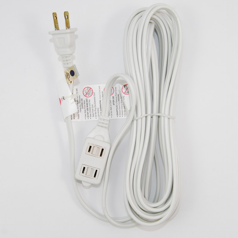 Sunlite Household  20 foot Extension Cord White
