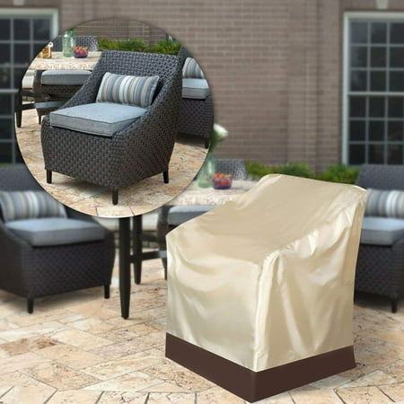 Sensational High Back Patio Chair Cover Classic Patio Lounge Chair Cover Single High Back Chair Cover Garden Stackable Chair Cover For Outdoor Furniture Andrewgaddart Wooden Chair Designs For Living Room Andrewgaddartcom