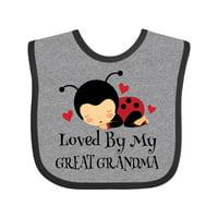 Loved By My Great Grandma Baby Bib