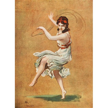 Modern Dancing & Dancers 1912 Isadora Duncan Canvas Art - FA von Kaulbach (24 x (Isadora Duncan The Biggest Dancer In The World)