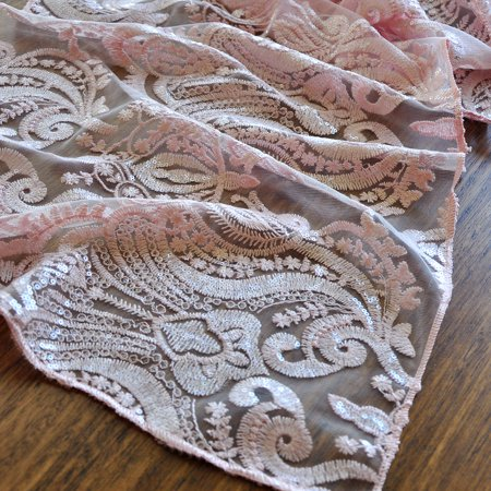 Blush Table Runner 108 Inches Manufactured In The Usa