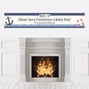 Ahoy - Nautical - Boy Baby Shower Party Decorations Party Banner