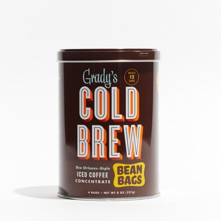 Grady's Cold Brew New Orleans-Style Iced Coffee Concentrate Bean Bags, 8