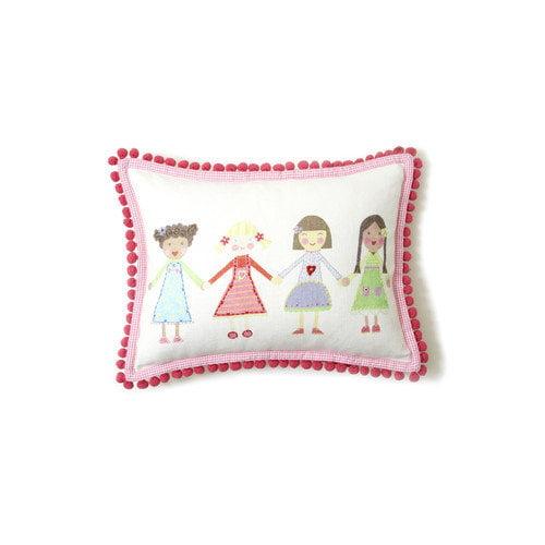 The Little Acorn Multi Girls Pillow