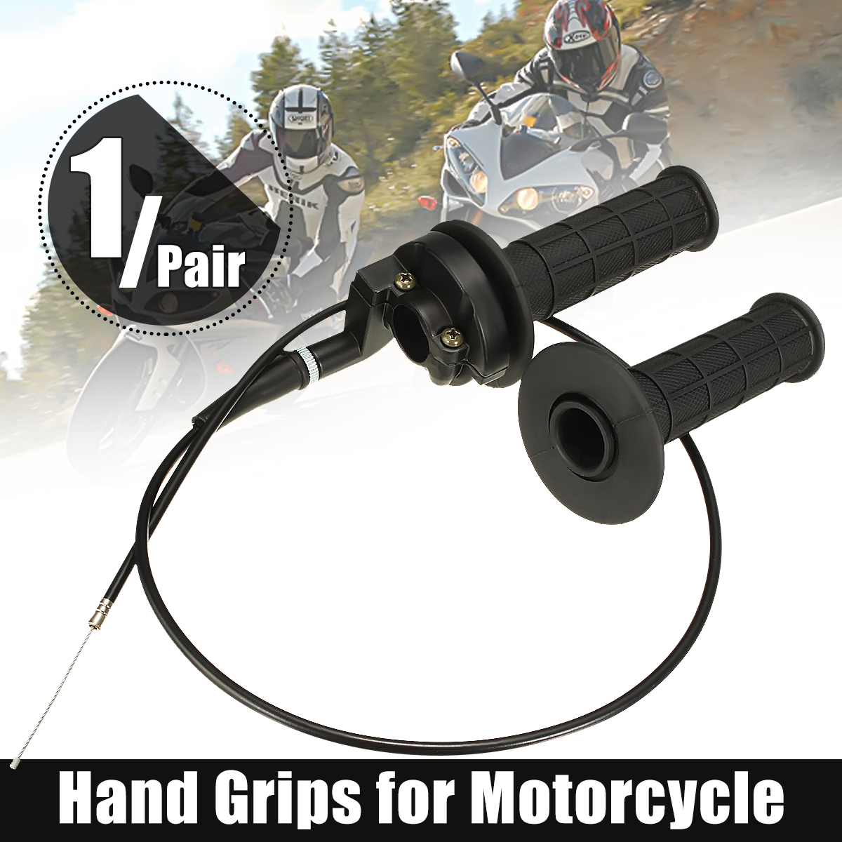 "7/8"" 22mm Handlebar Twist Throttle Hand Grip & Cable For ATV Quad Pit Dirt Bike Dirtbike 50cc 190 cc"