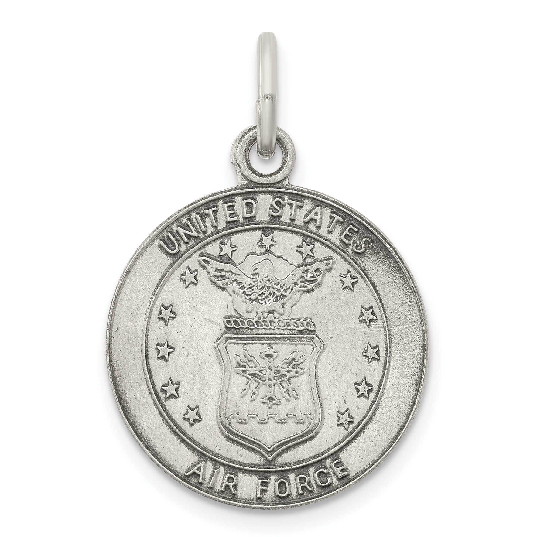 US Air Force Sterling Silver St Christopher Medal