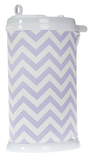 Sweet Potato Ubbi Diaper Pail Cover, Purple Chevron by Sweet Potatoes