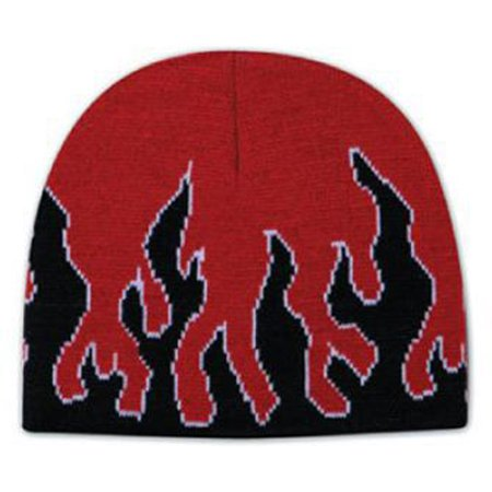Otto Cap Flame Design Acrylic Knit 8 Beanie - Hat / Cap for Summer, Sports, Picnic, Casual wear and Reunion etc