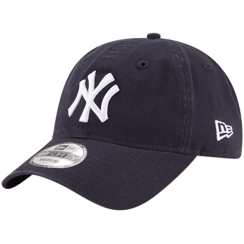 New York Yankees New Era Core Fit Replica 49FORTY Fitted Hat - Navy