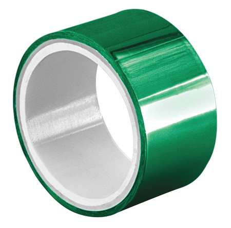 Metalized Film Tape,Green,1/4In x 5Yd TAPECASE 15D375