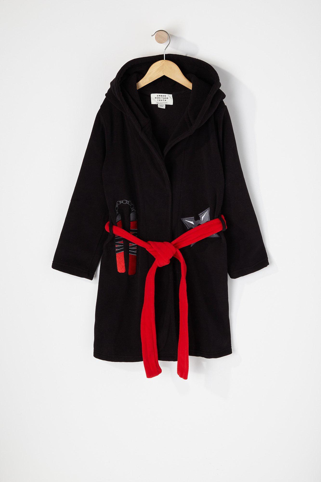 Batman Boys Black Fleece Robe Size 2T 3T 4T 5T 6 8 10 12