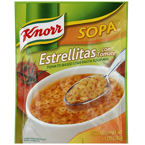Knorr Tomato Based Star Pasta Soup Mix, 3.5 oz (Pack of 12)