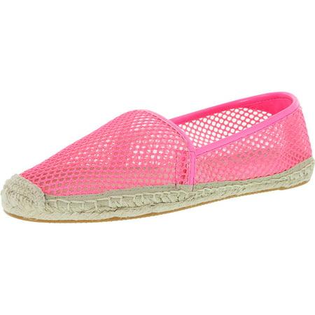 Rebecca Minkoff Women's Ginny Neon Pink Ankle-High Mesh Flat Shoe - 8.5M