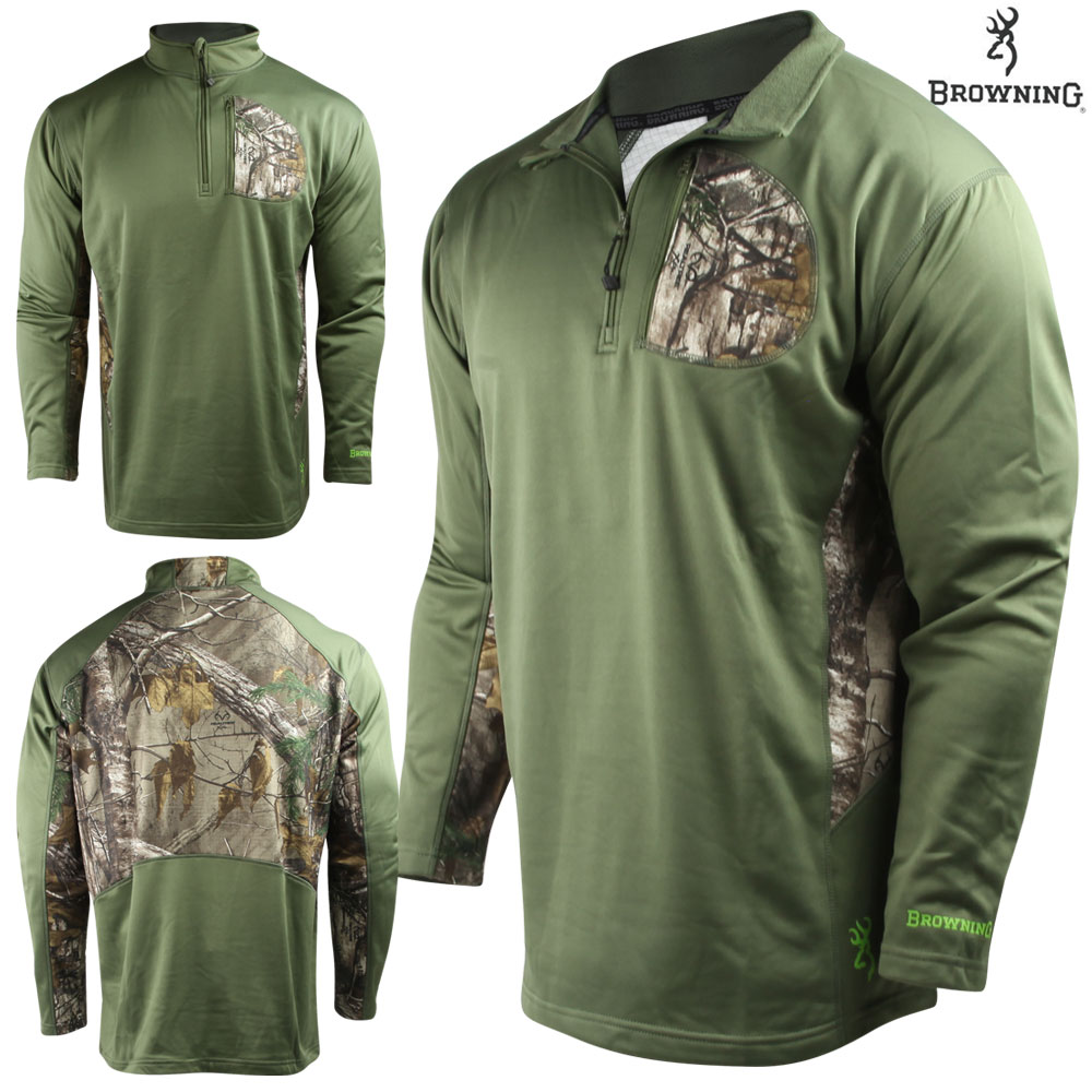 Browning Beam 1/4 ZIP Pullover (XL)- Clover