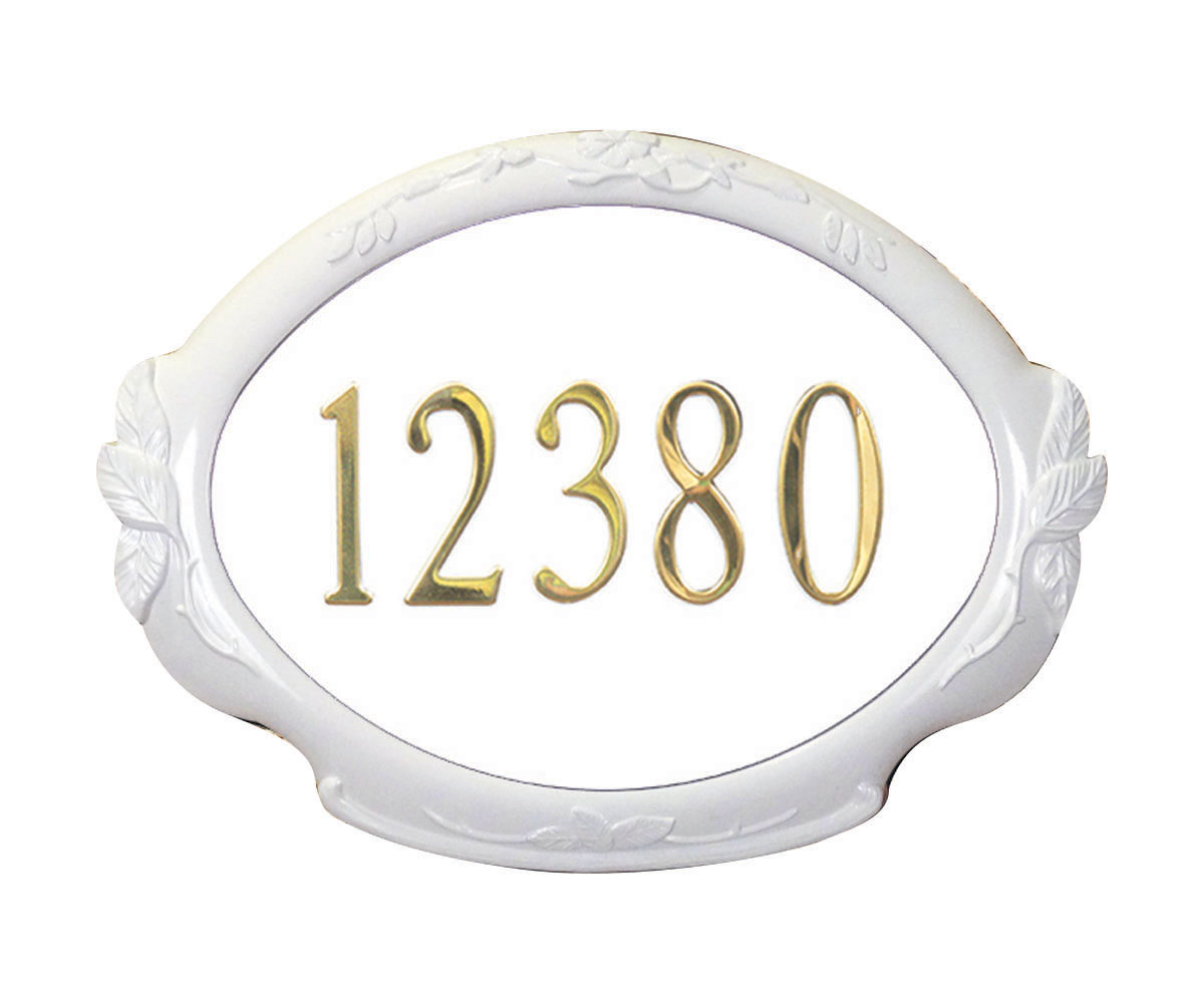 Floral Address Plaque (Copper) by Special Lite Products Company, Inc