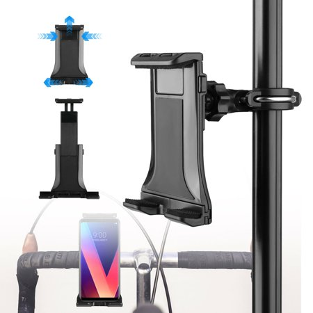 Universal Tablet Holder Stand Bikes Mount, Exercise Equipment, Microphone Stands, 360 Degree Swivel Rotation Adjustable Hands-Free for iPads Samsung iPad Mini Kindle