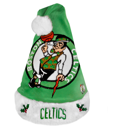NBA 2011 Colorblock Santa Hat, Boston Celtics