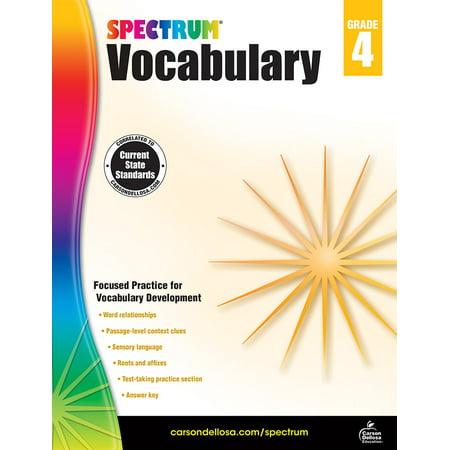 Spectrum Vocabulary, Grade 4 - Halloween Vocabulary Worksheet