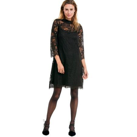 eb8df3887603f Ellos - Plus Size A-line Scalloped Lace Dress - Walmart.com