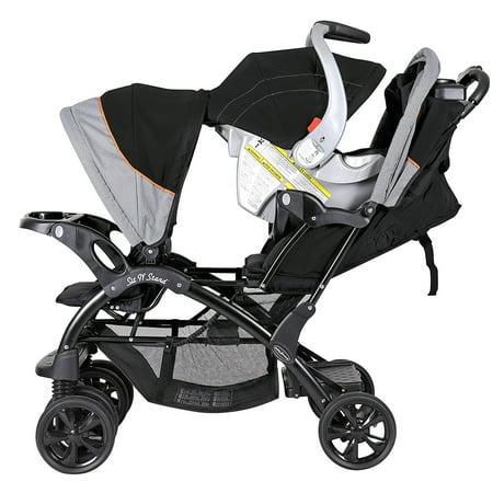 Baby Trend Sit 'N Stand Double Stroller, Millennium Orange ...