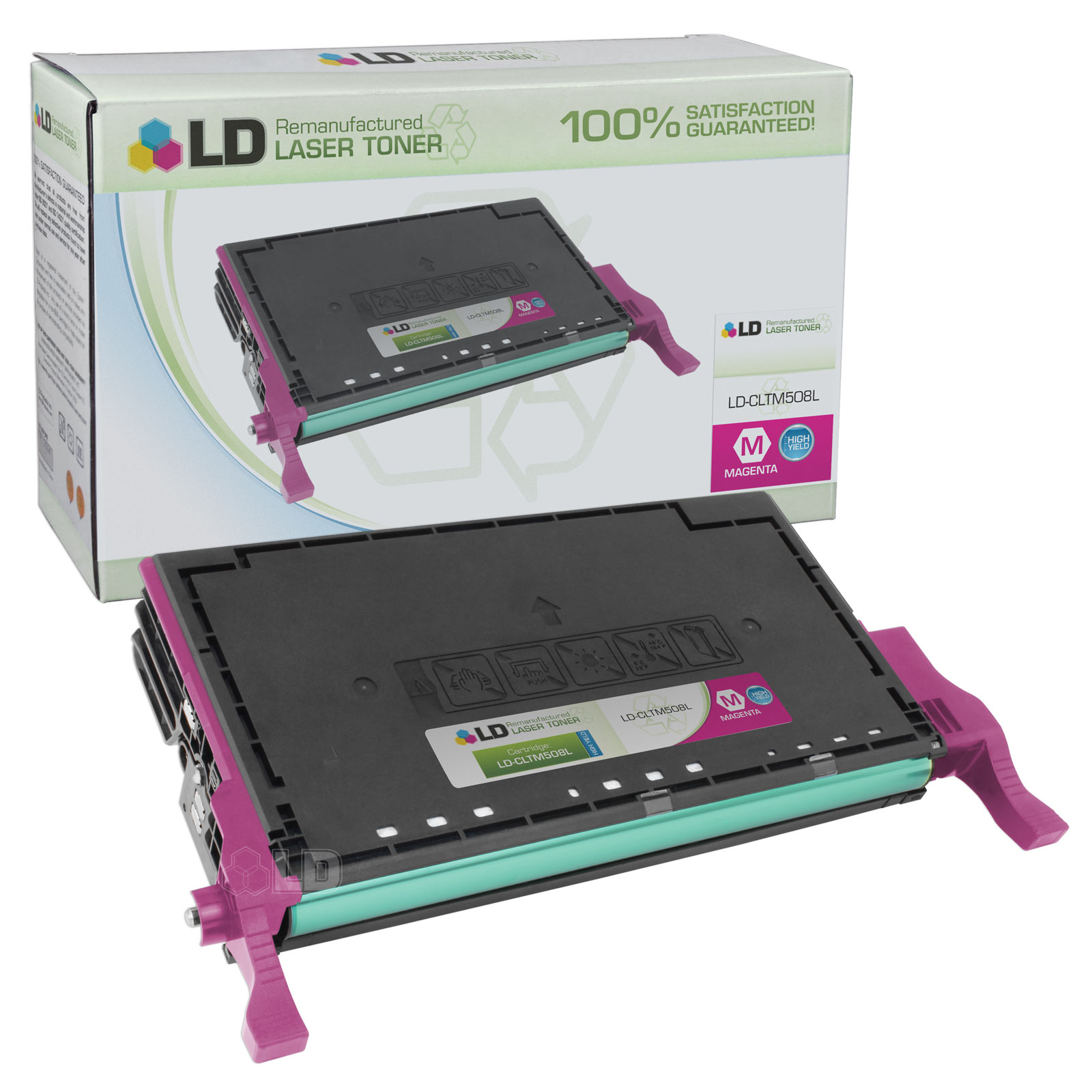 LD Replacement CLT-M508L High Yield Magenta Laser Toner Cartridge for use in the CLP-620ND, CLP-670N, CLP-670ND,