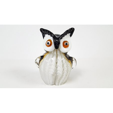 Glass Owl with Brown Eyes, Featuring a multi-colored body and translucent red accents, this all-glass accent is simply stunning By (Colored Translucent Glasses)