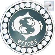 Bella Crystal Golf Ball Marker & Hat Clip - Zodiac Collection - Pisces