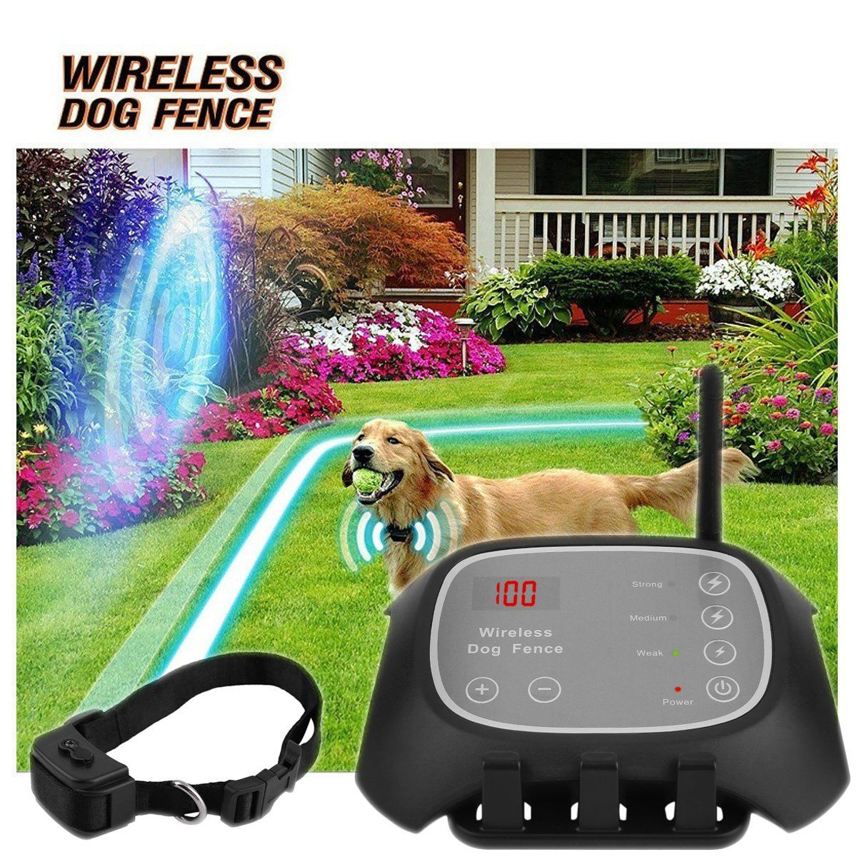waterproof wireless 3 dog pet fence containment system waterproof wireless 1 dog pet remote electric