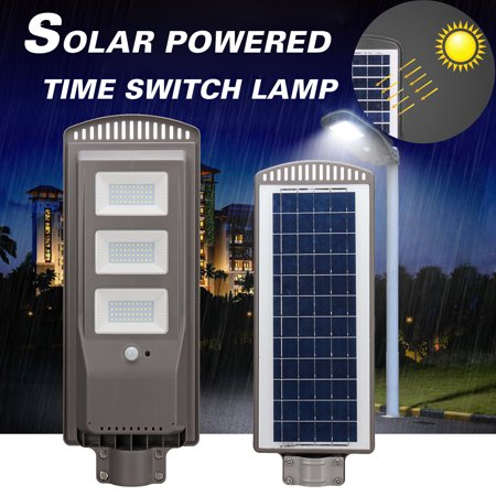 Image of 60W LED Solar Garden Light Power Wall Street Time Switch Control Outdoor Lamp Intelligent Control Intelligent Time Switch Control