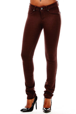 WOMENS LABIJOU SOFT SOLID STRETCHY FRENCH TERRY BASIC JEGGING SKINNY PANTS 511S