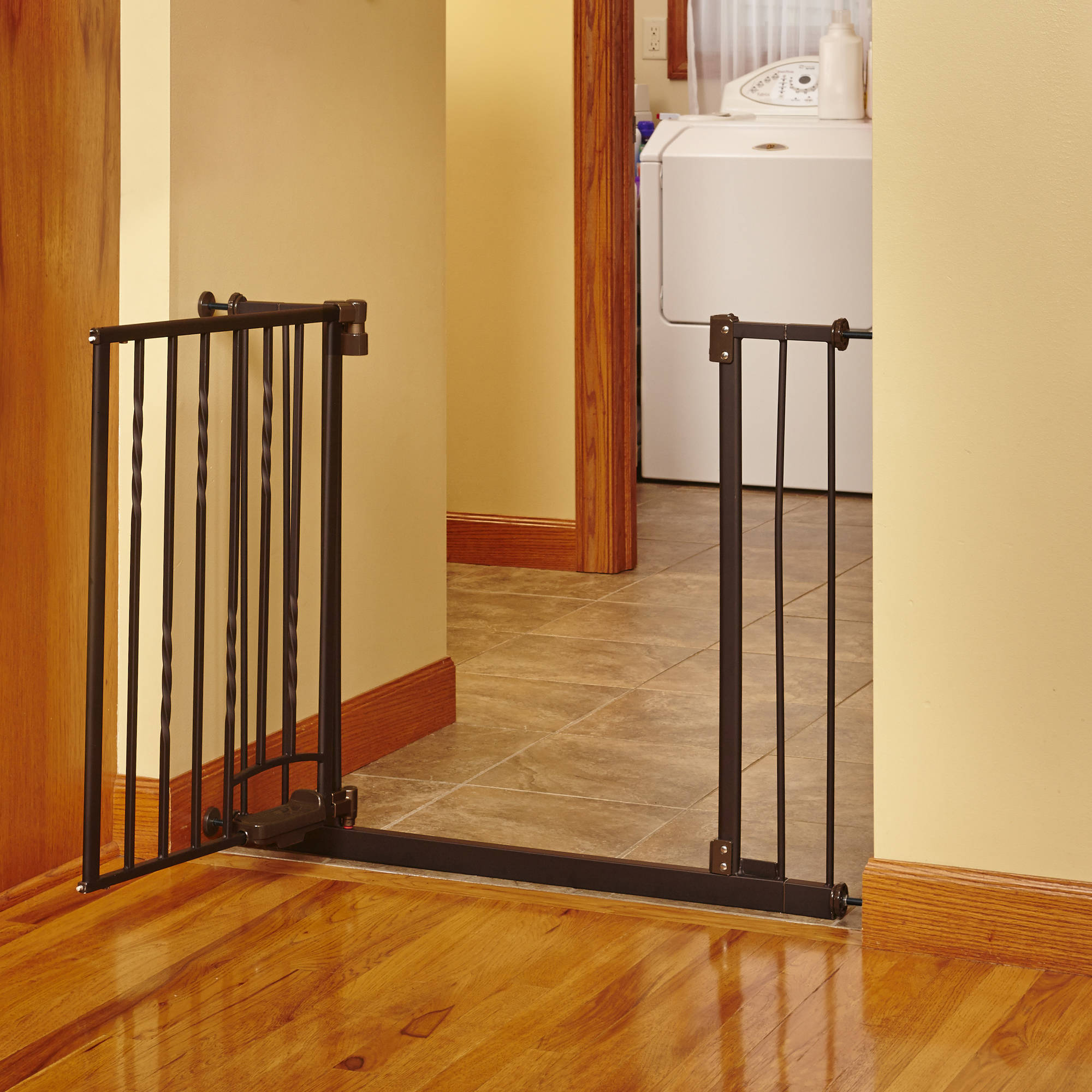 north states bronze step n go foot pedal baby gate 31 25