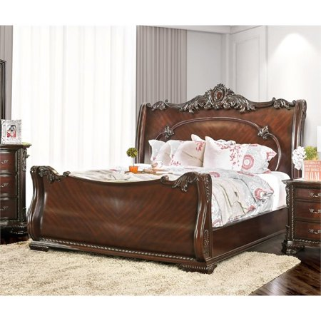 - Bowery Hill King Sleigh Bed in Brown Cherry