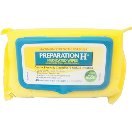 Preparation H® Maximum Strength Formula Medicated Wipes 48 ct Pack