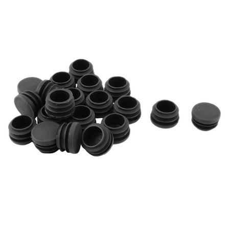 Plastic Round 28mm Dia Anti-slip Chair Foot Cover Table Furniture Leg Protector Black 20 Pcs - image 2 of 2